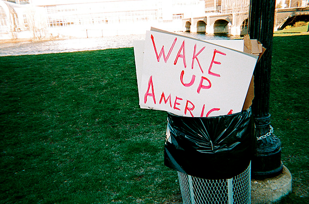 A photograph taken after a protest in Grand Rapids, Mich. (Creative Commons)